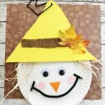 scarecrow paper plate craft