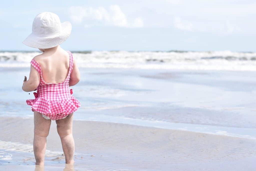 baby in sun hat