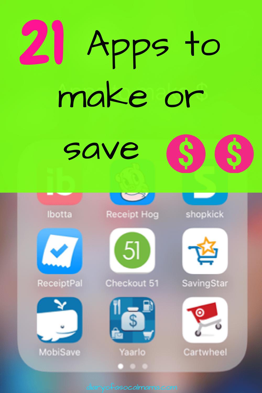 Apps | save money | side hustle | groceries | save