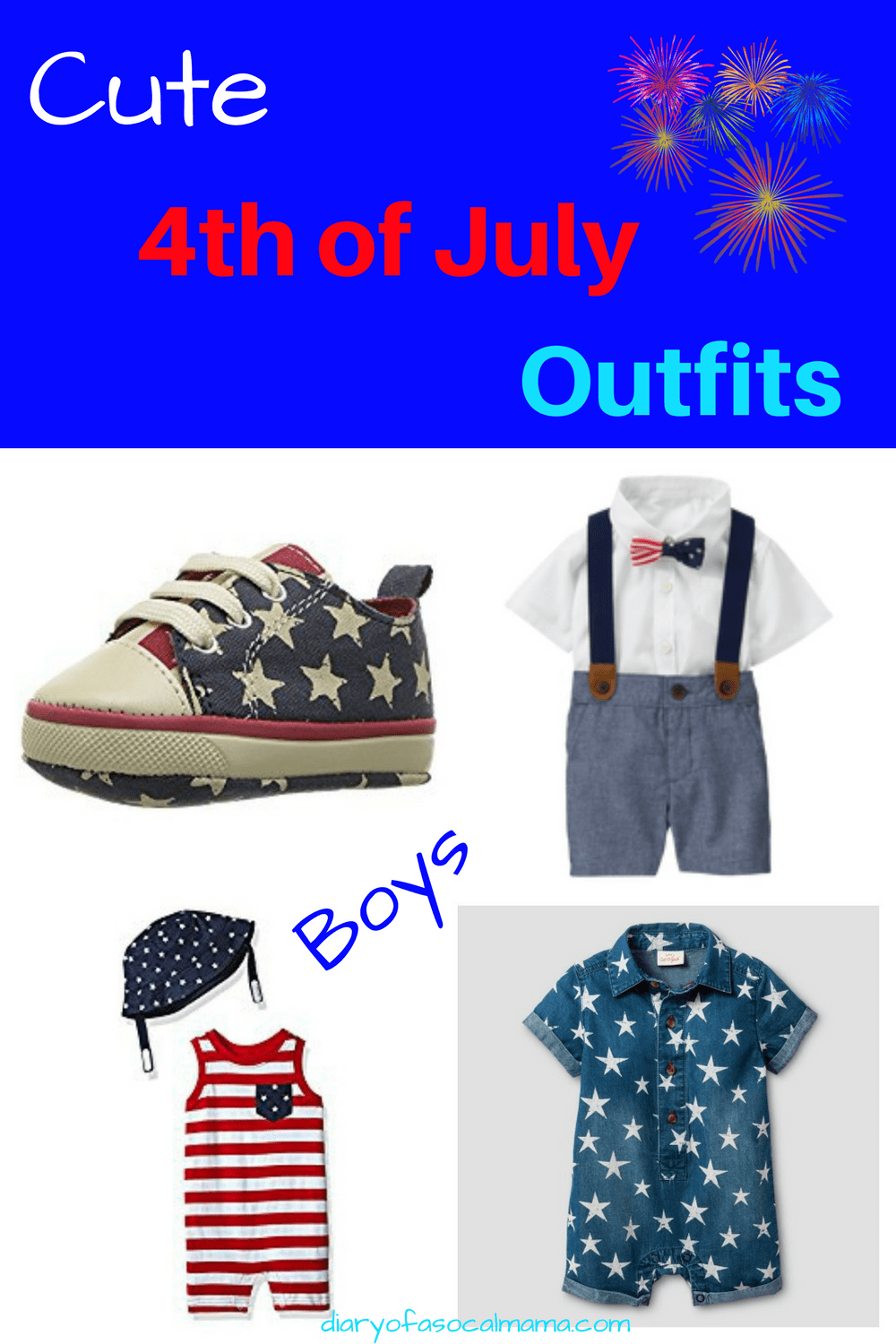 Cute 4th of July outfits for boys - Diary of a SoCal mama
