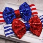 Glitter 4th of July bow