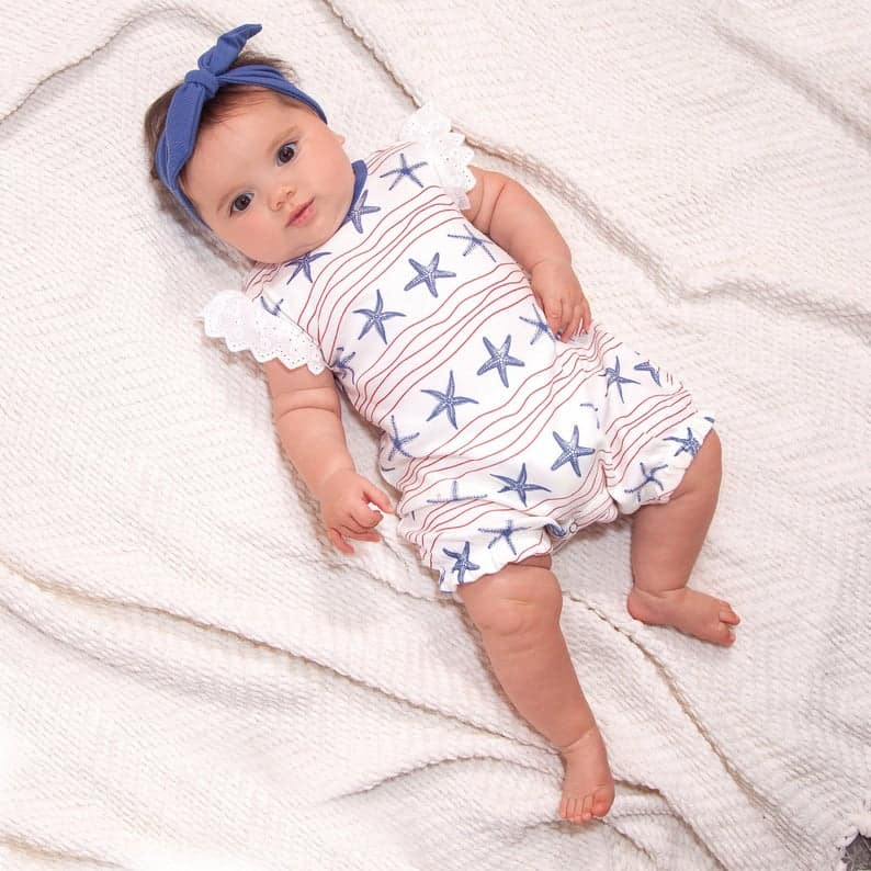 baby red white and blue - etsy