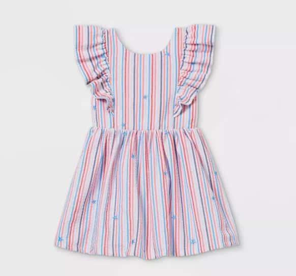 red white blue ruffle dress - Target