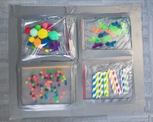 sensory bag kit from etsy