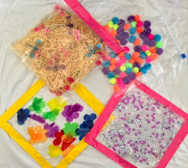 How to make cheap easy sensory bags