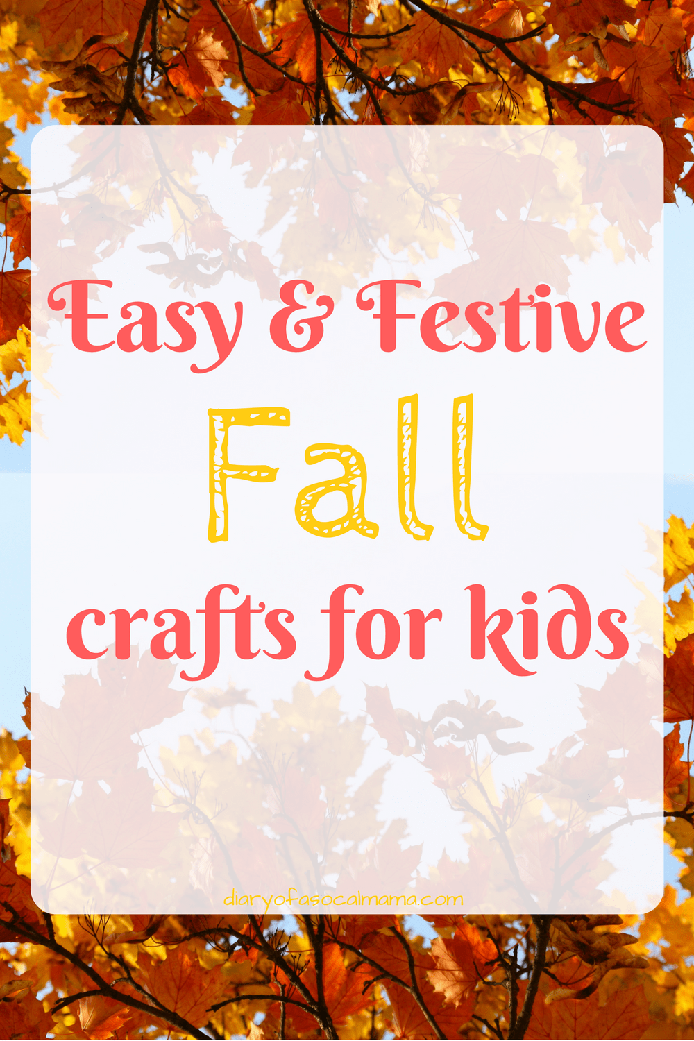 Festive fall crafts for kids