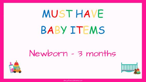 Newborn to 3 month baby items