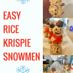 Easy Rice Krispie Snowmen
