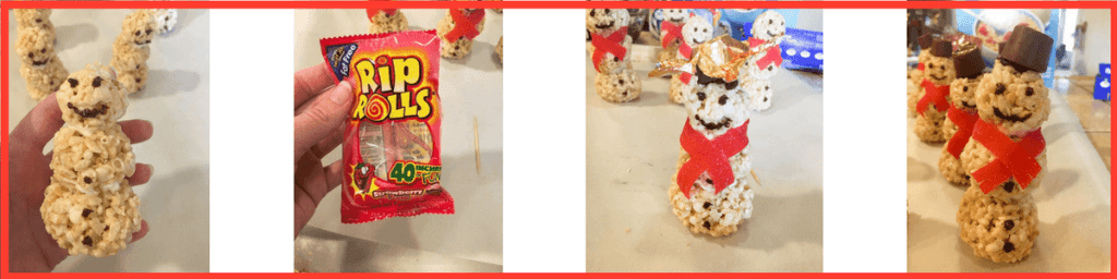 How to build rice krispies snowmen