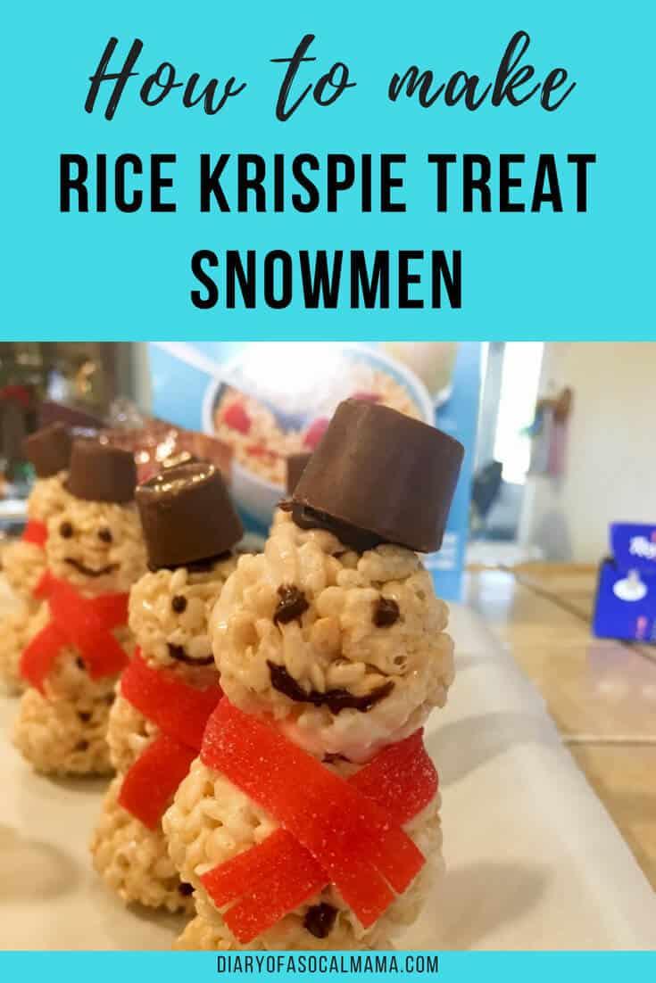 Rice krispies snowmen