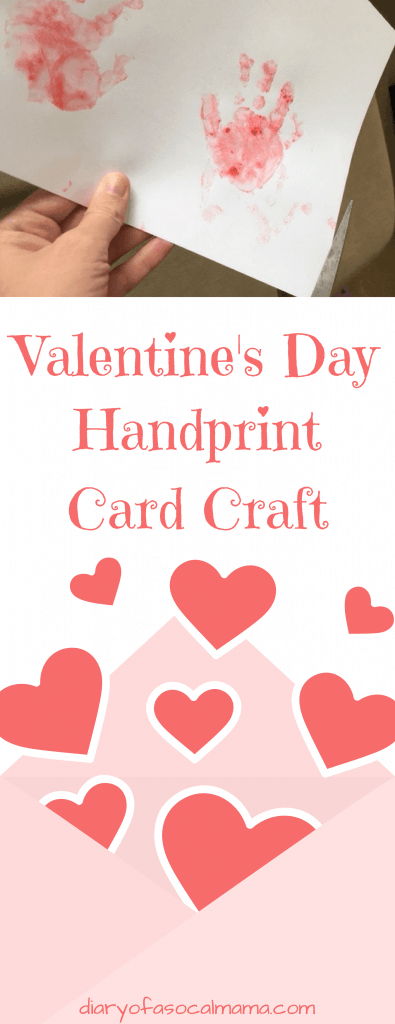 Valentines Day handprint card craft