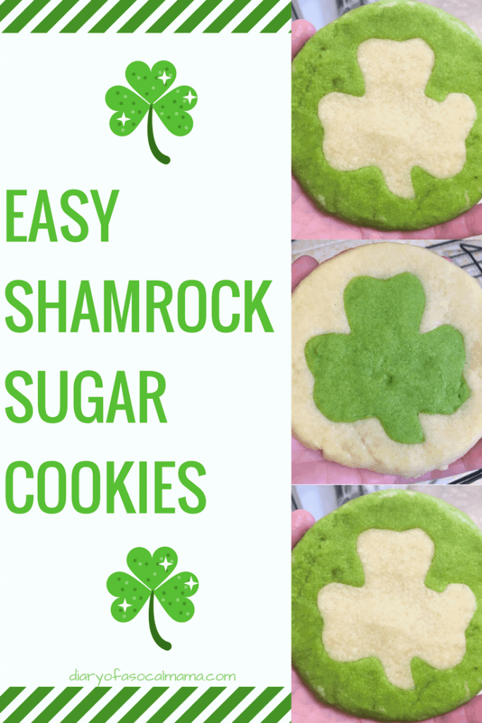 fun shamrock sugar cookies