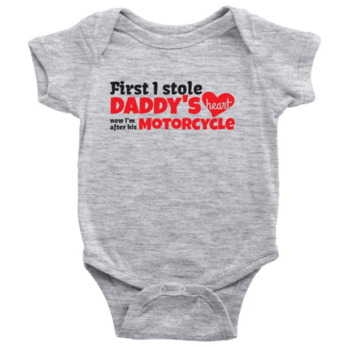 Daddy's Motorcycle baby bodysuit
