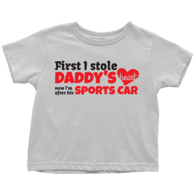 Daddy's Sports Car kid shirt
