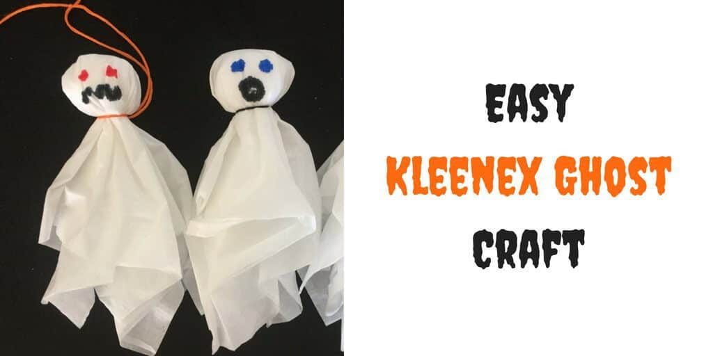 Easy kleenex ghost craft