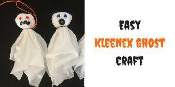Easy kleenex ghost craft