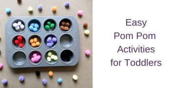 Easy Pom Pom Activities for Toddlers