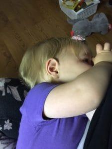 nursing a toddler
