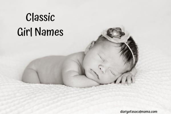 Classic girls names