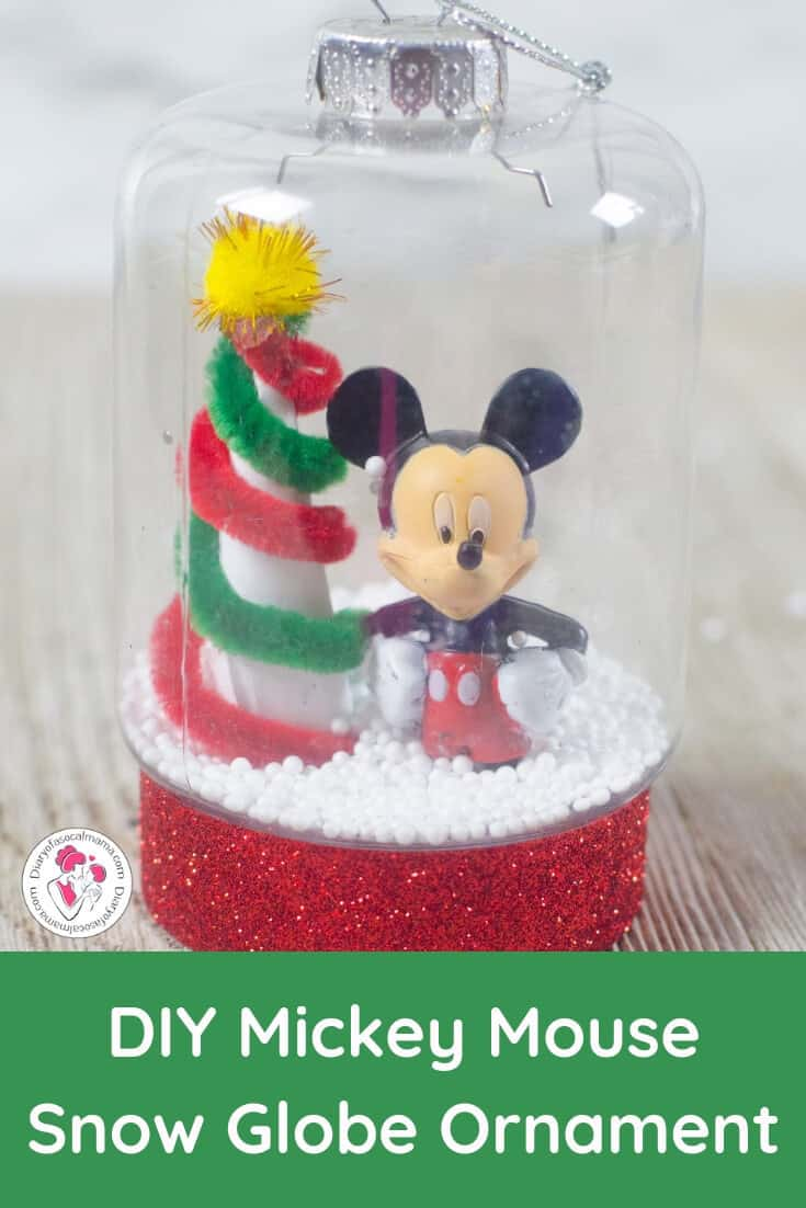 Mickey snow globe ornament