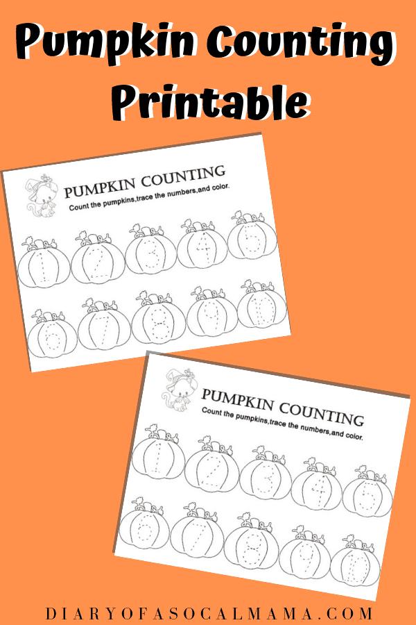 Halloween pumpkin activity
