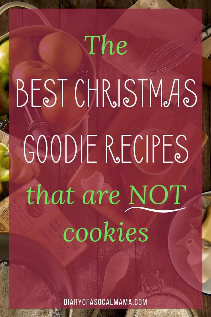 Christmas baking recipes that aren't cookies