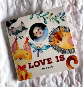 "Custom ""Love Is"" Board Book"