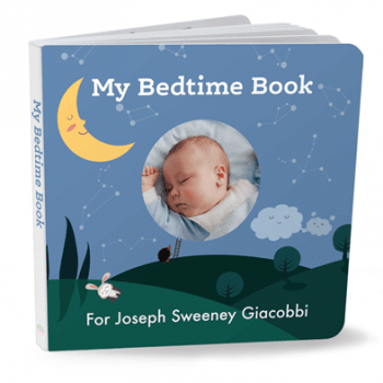 Custom bedtime board book