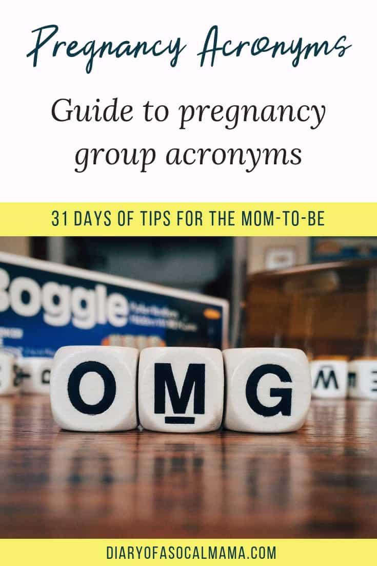 Pregnancy acronyms