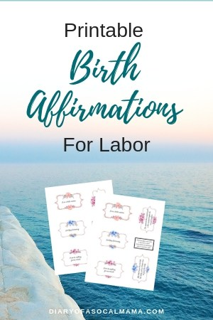 printable birth affirmations