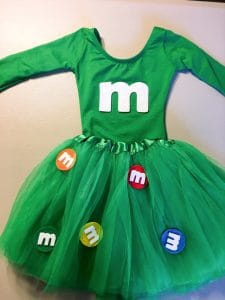 diy m&m toddler costume