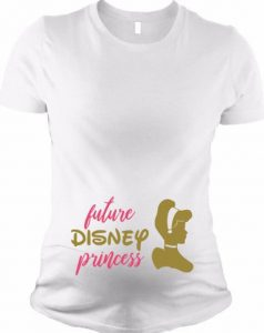 Disney princess maternity shirt