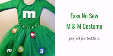 m&m kids costume