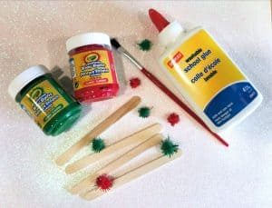 Christmas craft frame supplies