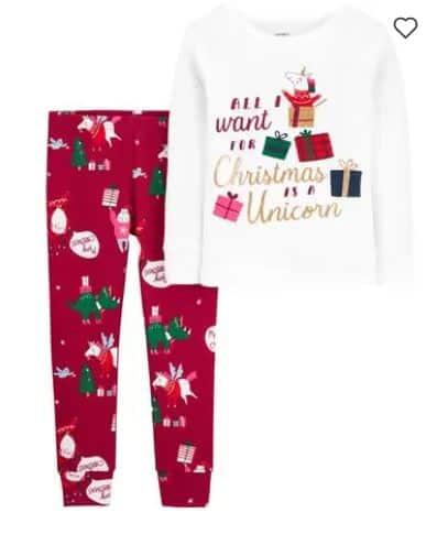 unicorn Christmas pajamas