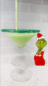 Grinch holiday drinks