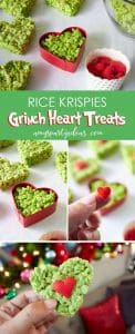 Grinch rice krispie hearts