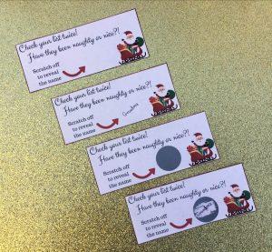 Secret Santa template for family