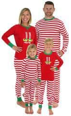striped elf pajamas