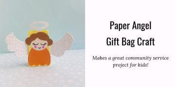 paper angel gift bag craft