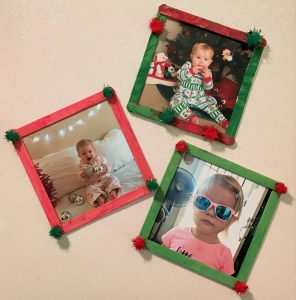 popsicle stick Christmas frame craft