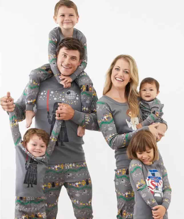 family in star wars pajamas