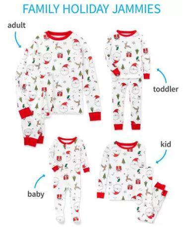 white santa Christmas pajamas