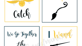 Harry Potter Valentines: Free Printable Cards