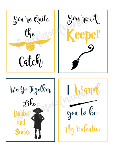 photo relating to Golden Snitch Printable identify Harry Potter Valentines: Absolutely free Printable Playing cards - Diary of a