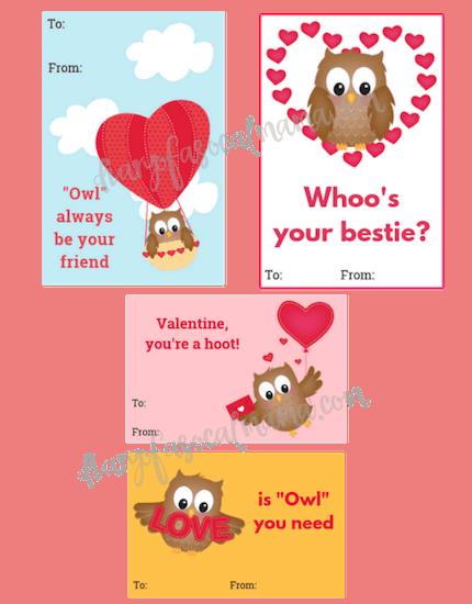owl valentine cards