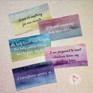 watercolor birth affirmation cards