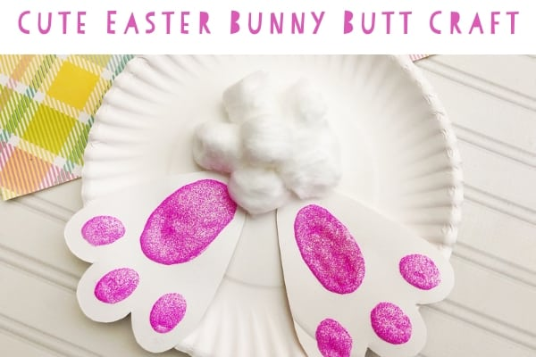 Easy Bunny Butt Easter Craft For Toddlers Diary Of A So Cal Mama