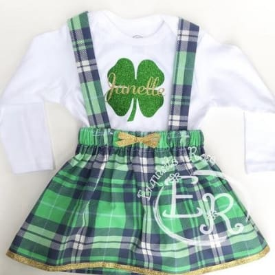 st patricks day romper outfit