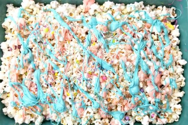 blue popcorn layer